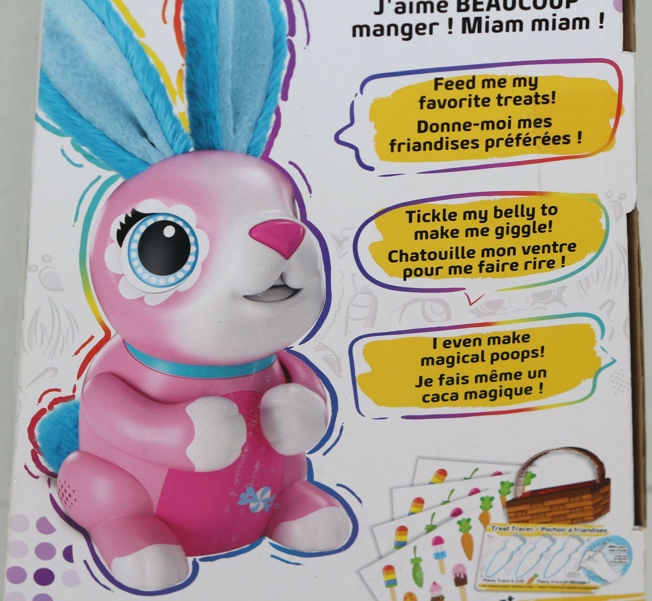 Spinmaster ZOOMER HUNGRY BUNNIES SHREDDY Pink INTERACTIVE RABBIT Toy EASTER NEW