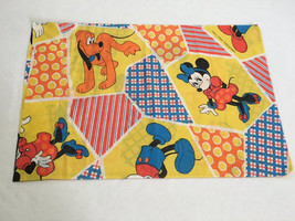 Walt Disney Productions Vtg Mickey Minnie Mouse Pluto Patchwork Print Pi... - $9.99