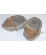 American Made! Brown Leather Baby Moccasins, Size 2-4 Infant Moccasins S... - $33.95