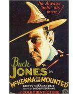 "8x10"" Silk Canvas Print, Buck Jones, Actor, McKenna of the Mounted, Adve... - $11.99"