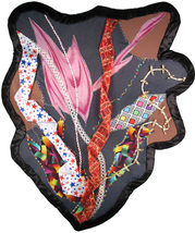 Colorful Chaos: Quilted Art Wall Hanging - $315.00