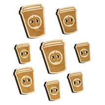 Pumpkin Spice Latte Coffee Wood Buttons for Sewing Knitting Crochet DIY Craft -  - $9.99