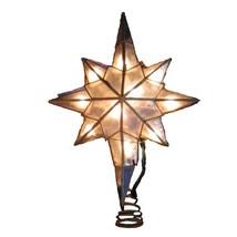 Kurt Adler 10-Light Capiz Star of Bethlehem Clear Treetop - $12.45
