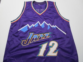 JOHN STOCKTON / NBA HALL OF FAME / AUTOGRAPHED UTAH JAZZ CUSTOM JERSEY / COA  image 2