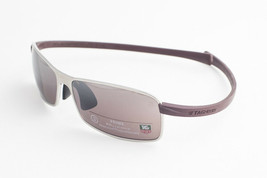 Tag Heuer CURVE 5018 604 Plum Silver / Prune Sunglasses TH5018-604 61mm - $342.51