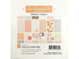 """Chickaniddy Crafts Twirly Girly Collection 6x6"""" Cardstock Pad #TP14PD01"""
