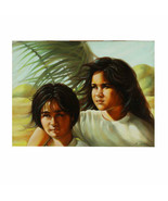 """Sisters"" By Anthony Sidoni Signed Oil Painting 18""x24"" - $10,043.30"