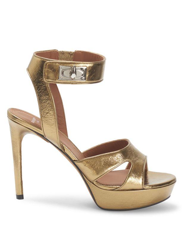 Givenchy Shark Stiletto Metallic Platform Sandals 39 MSRP: $1125.00