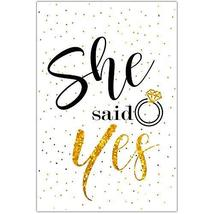 She Said Yes Bridal Shower Poster - $14.36
