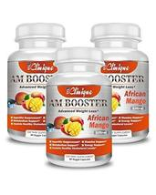 AM Booster - Value Pack of 3-180 Capsules - African Mango Complex - Rasp... - $44.33