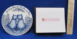 Vintage 1999 Cat Calendar & Royal Crownford Wall Hanging Cat Lover Plate... - $11.87