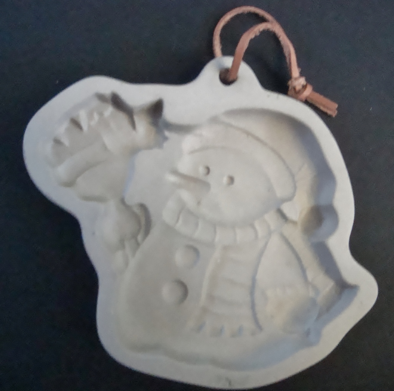 Snowman Cookie Mold, unmarked
