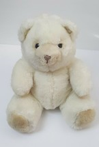 Vintage 1987 Dakin Teddy Bear Stuffed Animal Plush Toy White Tan Rare HTF  - $18.46