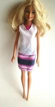 Vintage Barbie Doll Mattel 2002 Blond Hair & Blue Eyes  - $13.61