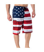 USA American Flag Men's Old Glory Board Shorts Patriotic Swim Trunks (S-... - €22,14 EUR+