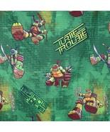 Nickelodeon Teenage Mutant Ninja Turtle Twin Flat Sheet Green Turtle Tro... - $12.86