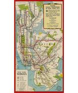 New York City Subway Map Metro Tube MTA Wall Art Poster Print Decor Vintage - $13.86+
