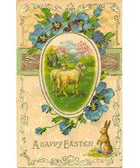 Happy Easter Wishes Vintage Post Card - $3.00