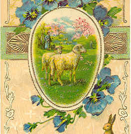 Happy Easter Wishes Vintage Post Card