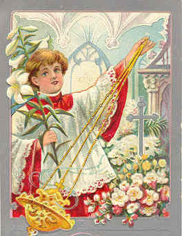 Easter Greetings From Laquin Pennsylvania Vintage Post Card