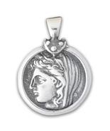 Delphic Stater - Goddess Demeter Sterling Silver Coin Pendant  - $48.00