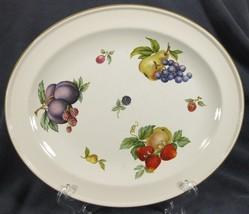 "Wedgwood Fruit Sprays Croft 11"" Oval Serving Platter Rim Shape England - $34.95"