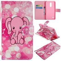 XYX Wallet Phone Case for LG K10 2018,[Pink Elephant][Wrist Strap][Kicks... - $4.94
