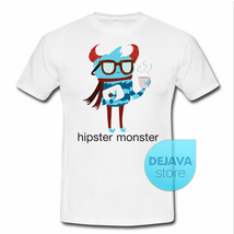 Devil Hipster Monster T-Shirt Unisex 100% Cotton Gildan Quality T Shirt - $17.85