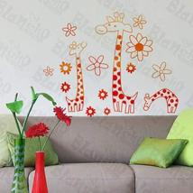 Giraffe's Family- Wall Decals Stickers Appliques Home Dcor - $10.87