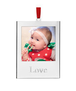 (2) Lenox Silver Love & Joy Picture Frame Christmas Ornaments - €21,35 EUR