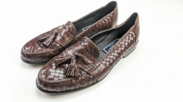 Cole Haan Bragano Mens Brown Woven Tasselled Slip-on Dress Shoes - $79.19