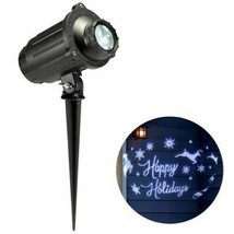 Philips Christmas LED Motion Projector Rotating Happy Holidays Scene Cool White