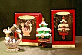 Hallmark Handcrafted Ornaments AA-191771B Collectible ( 2 pieces )