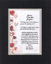 Touching and Heartfelt Poem for Daughters - Because I Love You Daughter Poem on  - $15.79
