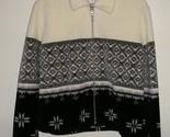 Willi smith women s canadian zip up fuzzy soft whiteblack jacket m  1  thumb155 crop