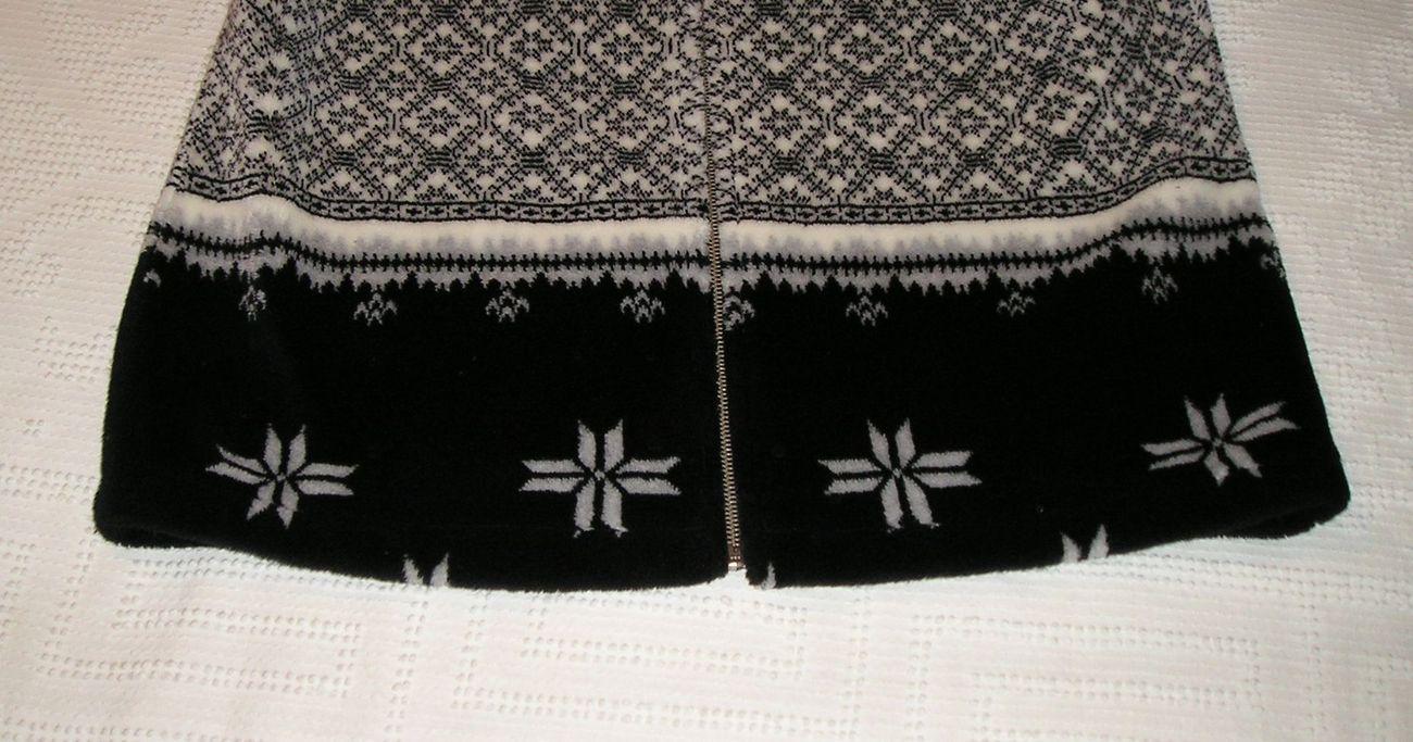 WILLI SMITH Women's Canadian Zip-Up Fuzzy Soft White/Black Jacket M Medium / 8