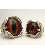 Gothic Steampunk Dragon Eye 3D Hand Painted Ste... - $250.00