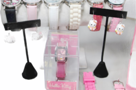 Large Sanrio Hello Kitty Assorted Jewelry Accessories Lot Watch Necklace Bank image 4