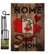 Country Canada Home Sweet Burlap - Impressions Decorative Metal Garden P... - $33.97