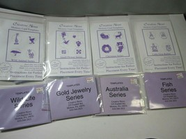 Lot 8 Creative News Memory Card Templates Elna New Home Asst. Embroidery... - $37.57
