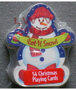1 Let it Snow Snowman Christmas playing card deck NEW ~ - $3.99