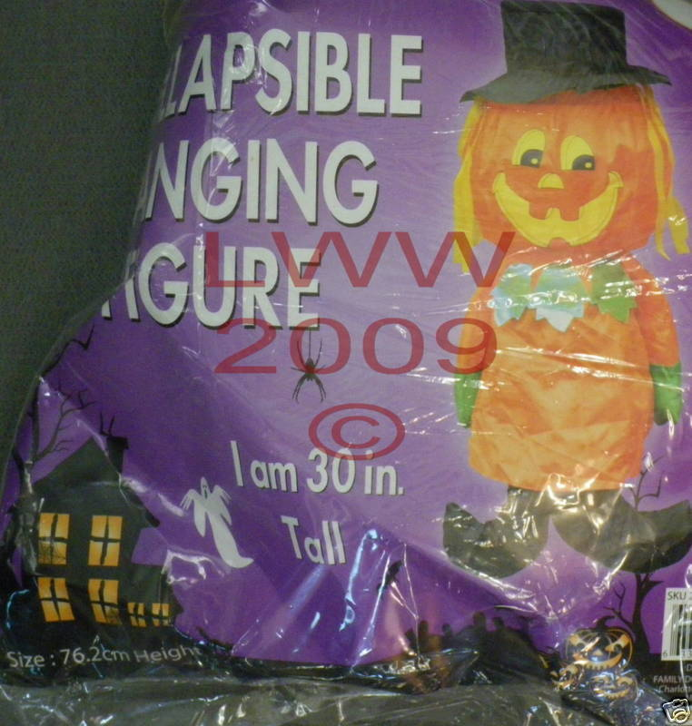 Jack-o-Lantern Halloween hanging collapsible wind sock