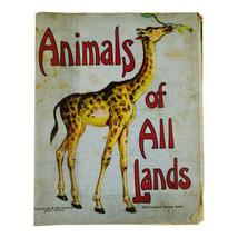 Vintage Graham and Matlack Animals of All Lands Children's Book on Linen - $95.00