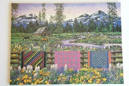 """Stave wooden puzzle """"Three Sisters Quilt"""" 250 Pieces Mountains Oregon No... - $2,063.15"""