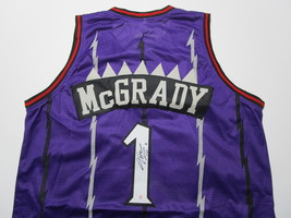 TRACY MCGRADY / HALL OF FAME / AUTOGRAPHED TORONTO RAPTORS CUSTOM JERSEY / COA image 1