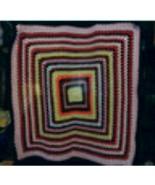 Handmade crocheted  afghan blanket (nice design-multi-colored) - $12.00