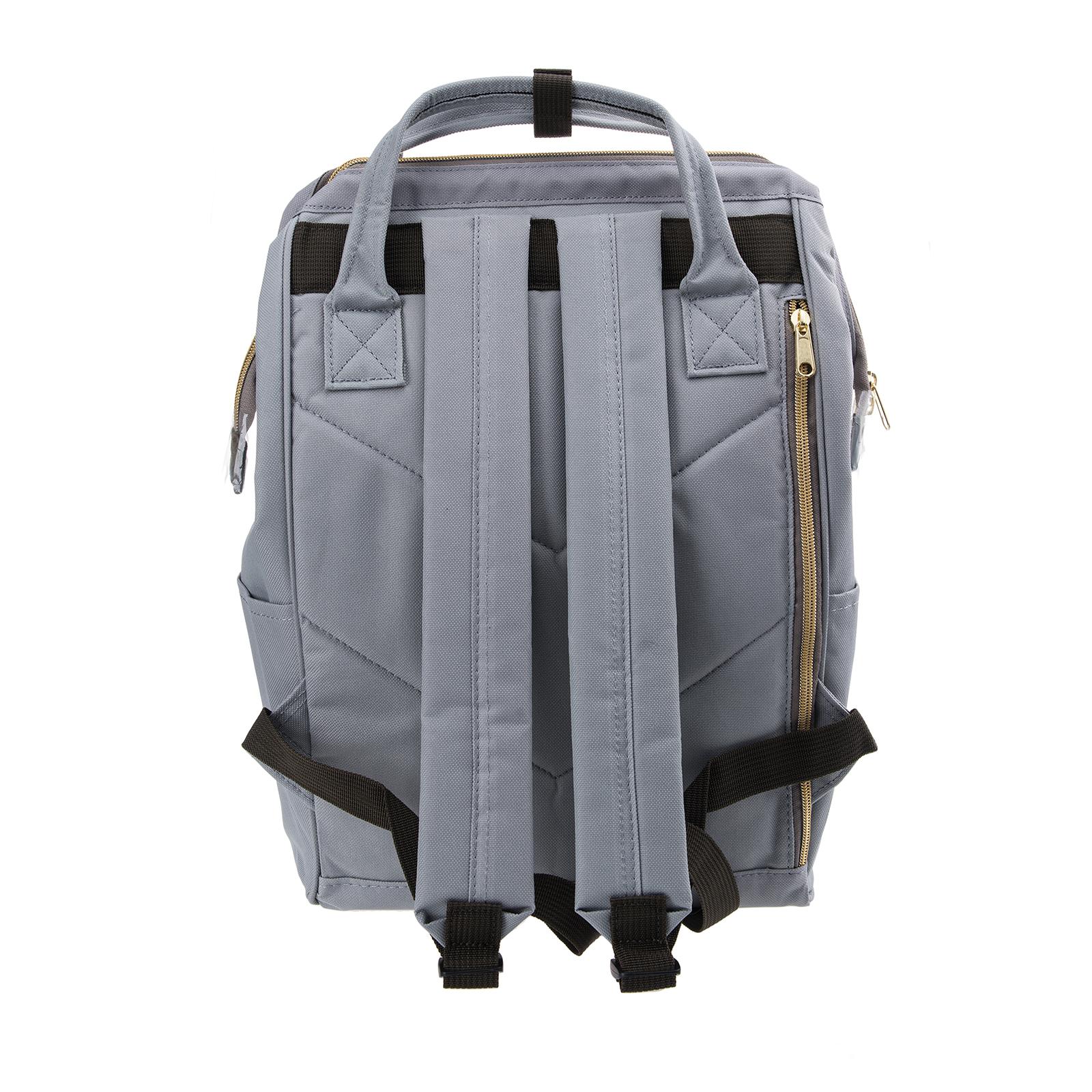 Anello Official Japan Light Grey Regular Backpack Rucksack Diaper Travel Bag image 4
