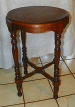 Round Walnut Lamp Table / Side Table - $299.00