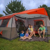 Oversized Camping Tent For Adults With Screen Room Unique Folding Big Hu... - $399.99
