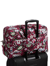 Vera Bradley Signature Cotton Iconic Weekender Bag, Bordeaux Blooms image 5